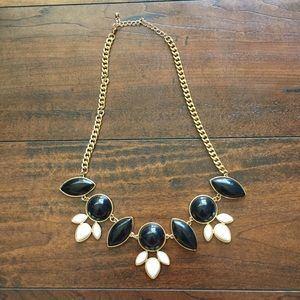 Black and white statement necklace